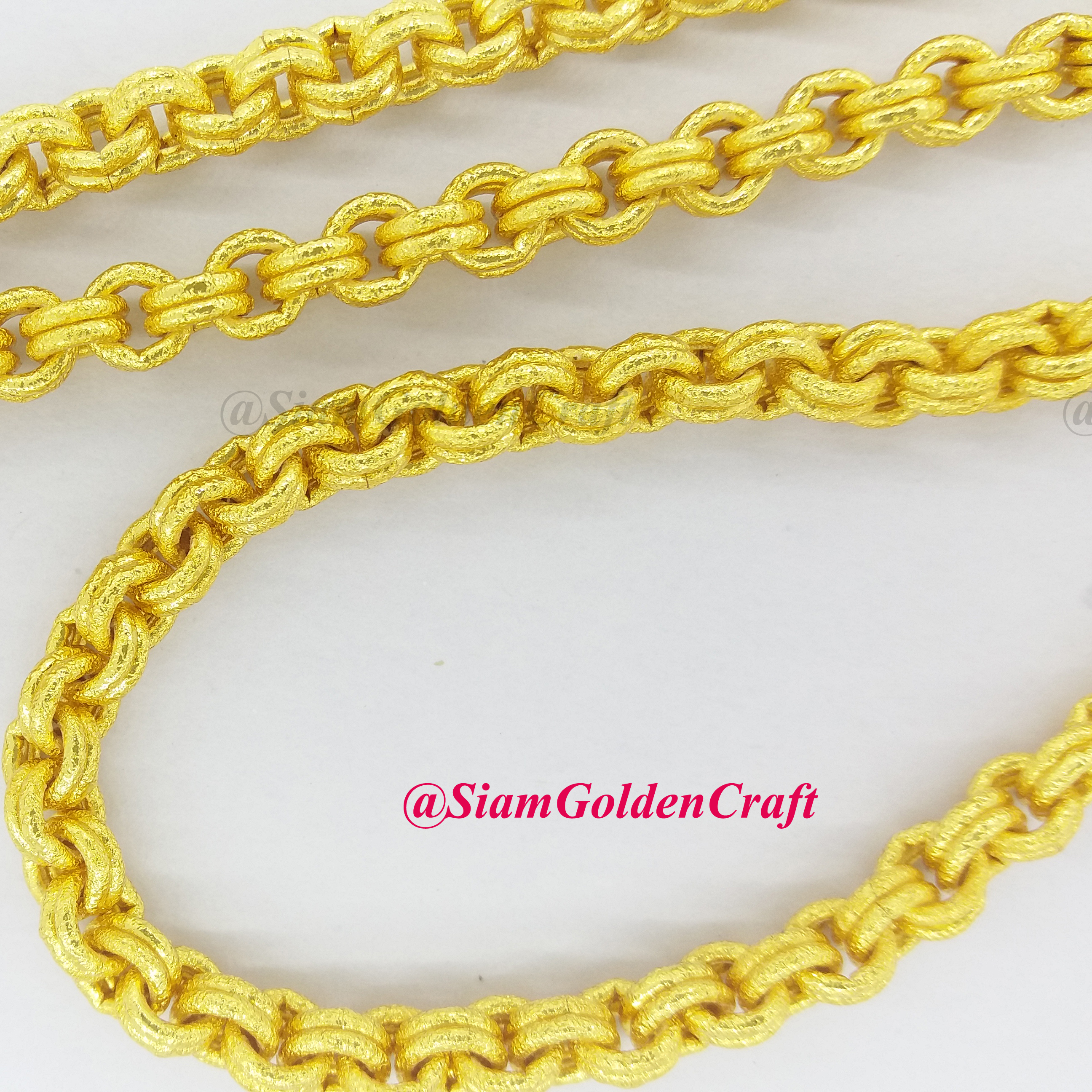 """Thai Gold Necklace: GORGEOUS 96% Real Thai Gold Plated Necklace 26"""" Double"""