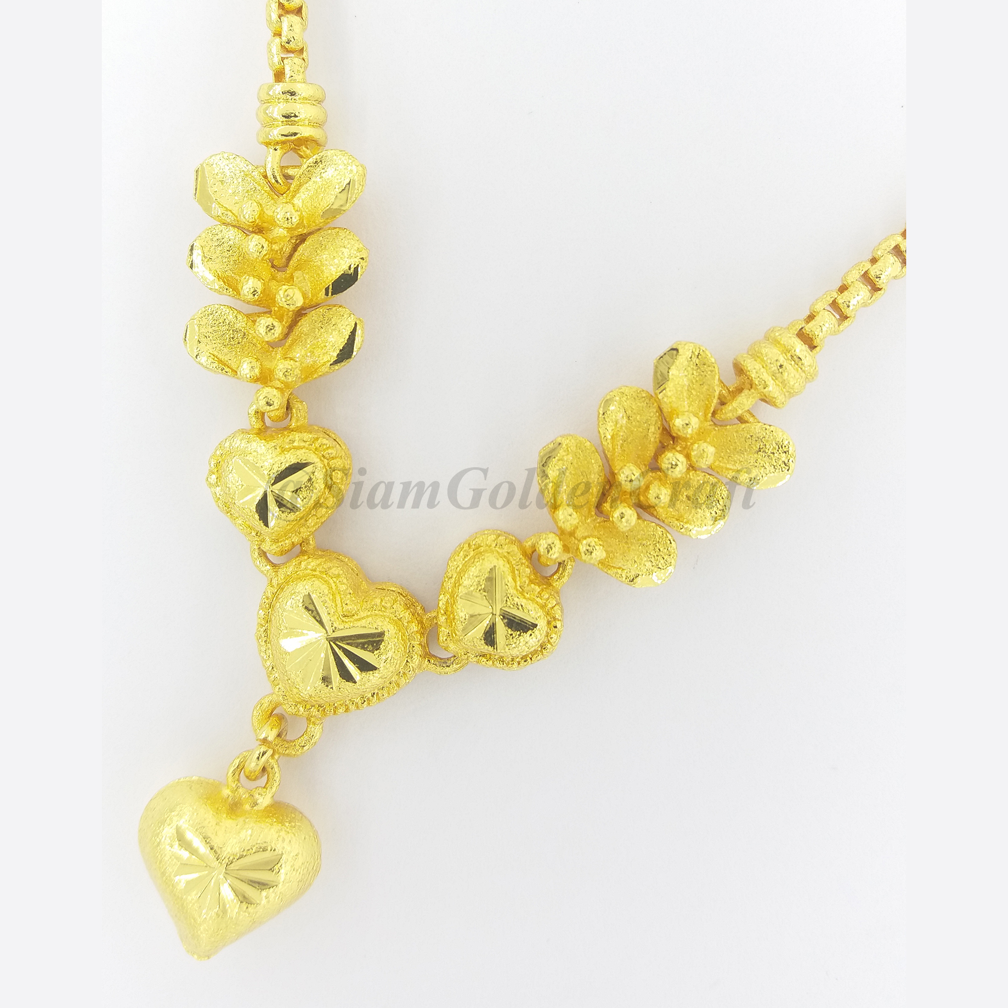 22K 23K 24K Thai Baht Gold Plate 18 Necklace 16 grams GP Yellow